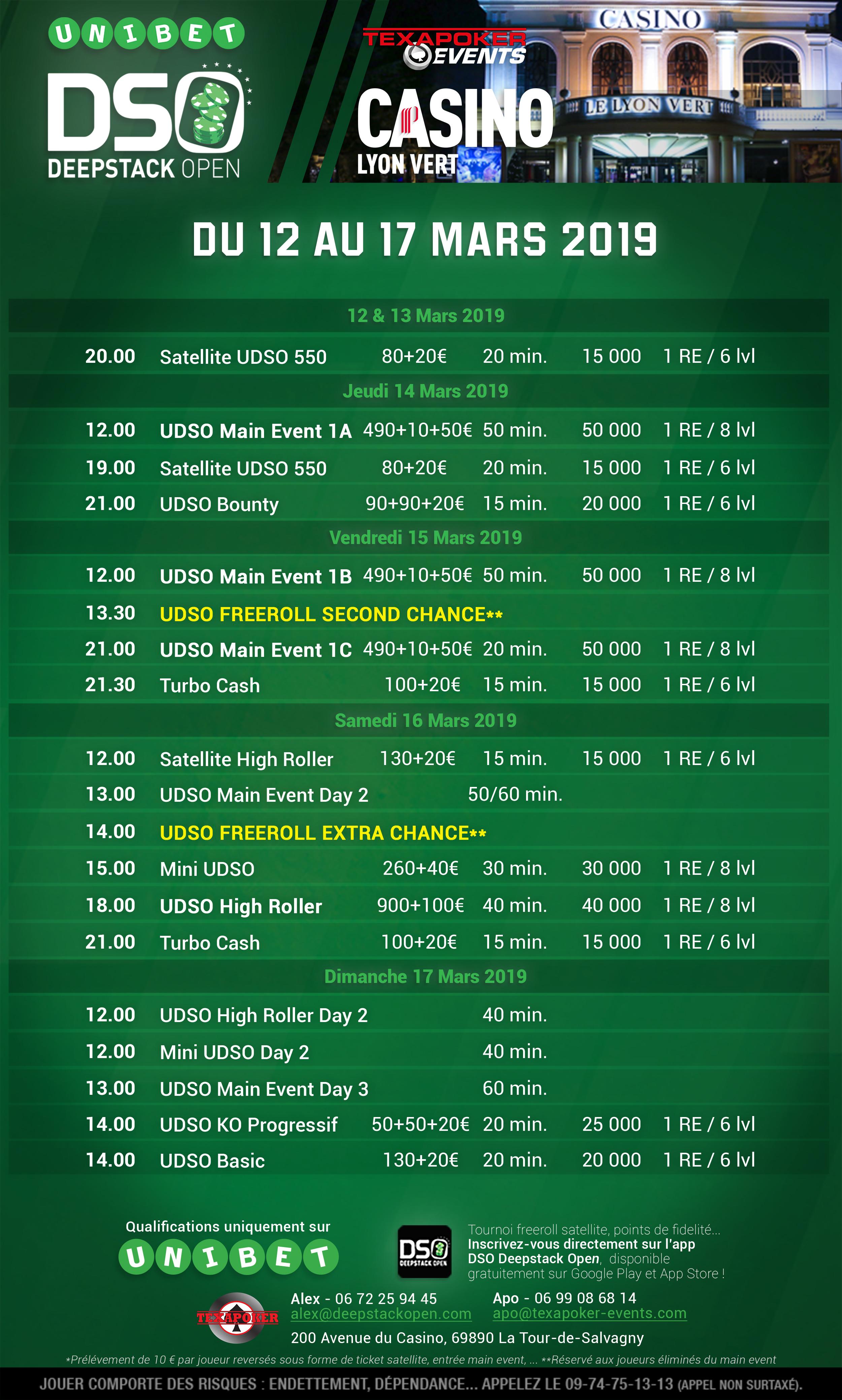 UDSO Lyon Season X @ Casino Lyon Vert | Lyon | Auvergne-Rhône-Alpes | France