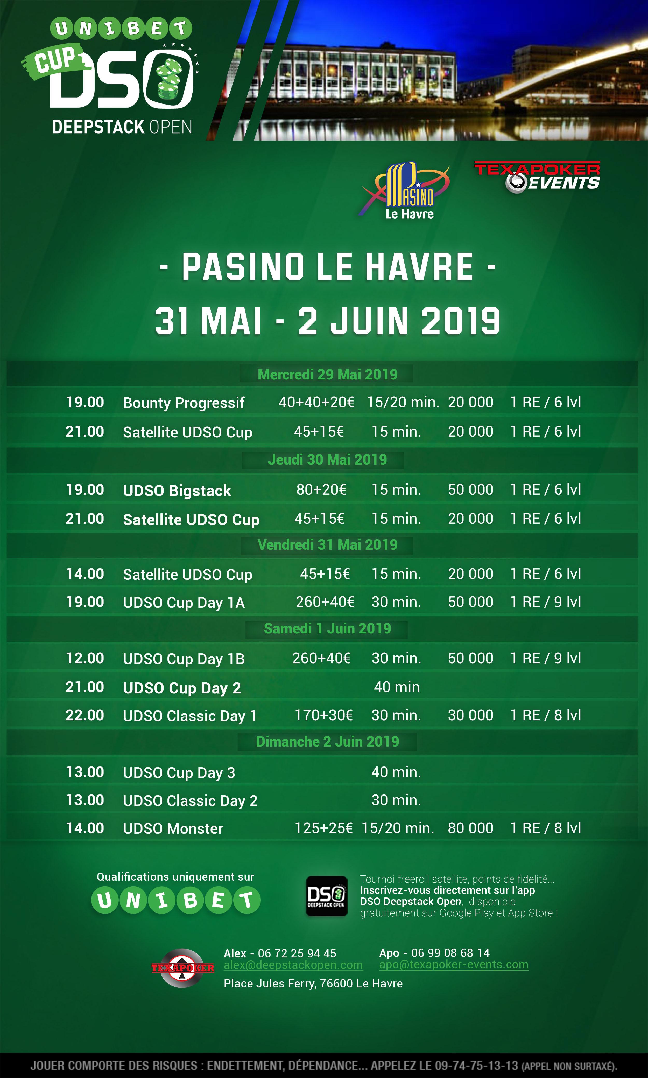 UDSO Cup Le Havre Season X @ Pasino Le Havre | Le Havre | Normandy | France