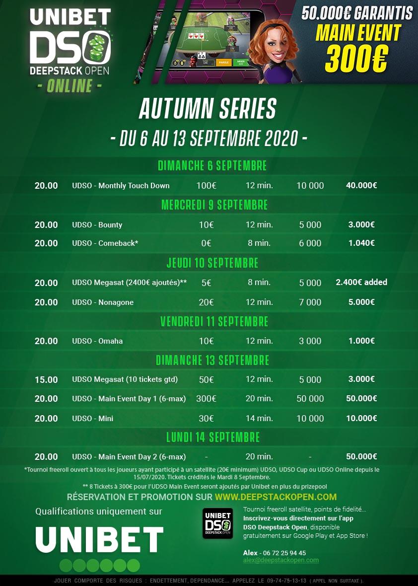 UDSO Online Autumn Series @ A la maison